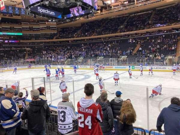 Madison Square Garden, secção: 109, fila: 6, lugar: 1
