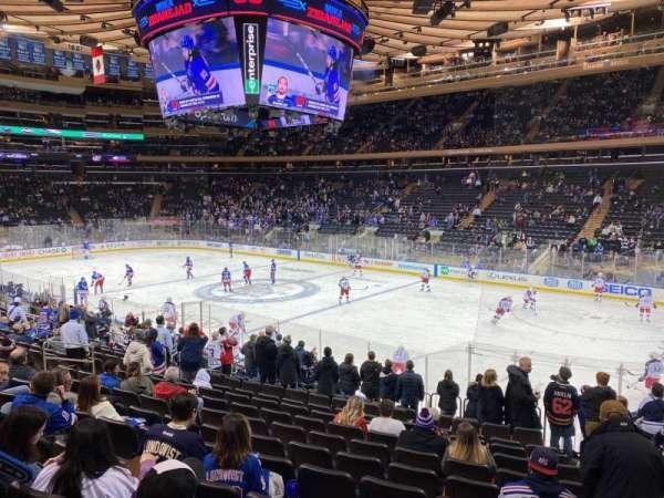 Madison Square Garden, secção: 109, fila: 16, lugar: 20