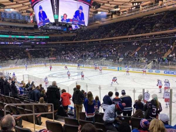 Madison Square Garden, secção: 110, fila: 11, lugar: 6