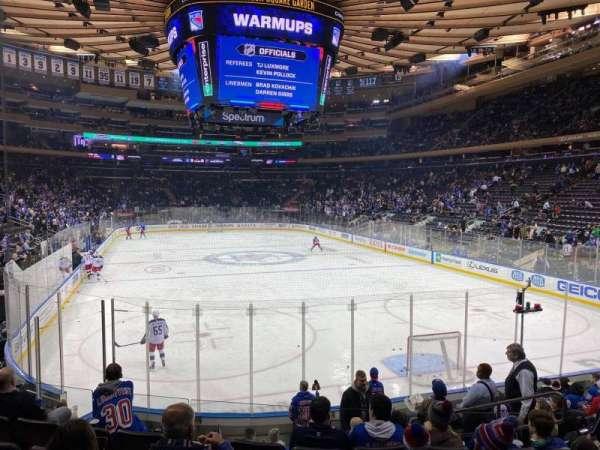 Madison Square Garden, secção: 111, fila: 11, lugar: 13