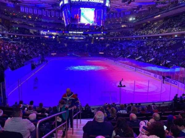Madison Square Garden, secção: 112, fila: 14, lugar: 1