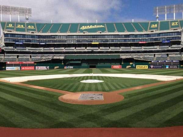 Oakland Coliseum, secção: 117, fila: 14