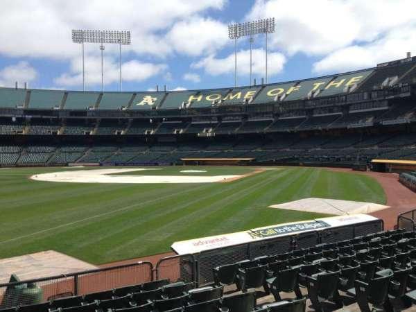 Oakland Coliseum, secção: 129, fila: 8