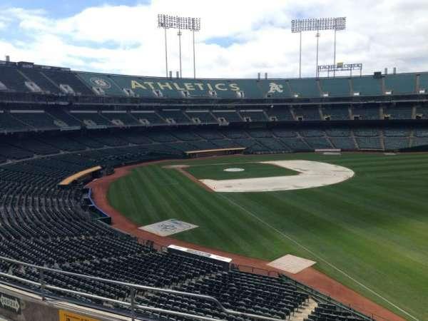 Oakland Coliseum, secção: 204, fila: 3
