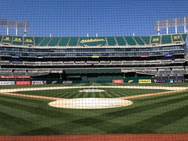 Oakland Coliseum, secção: Diamod Level, fila: 1