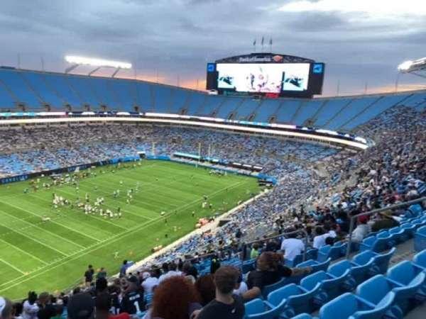 Bank of America Stadium, secção: 521, fila: 21, lugar: 9