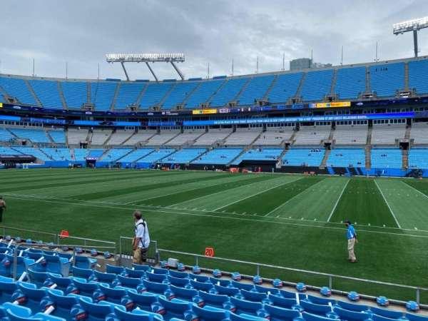 Bank of America Stadium, secção: 128, fila: 8, lugar: 6