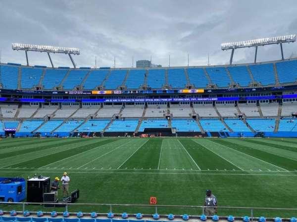 Bank of America Stadium, secção: 131, fila: 9, lugar: 11