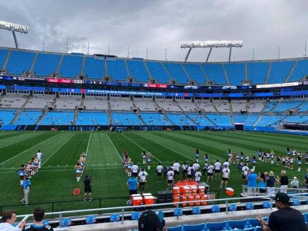 Bank of America Stadium, secção: 112, fila: 12, lugar: 20