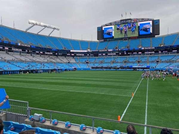 Bank of America Stadium, secção: 119, fila: 5, lugar: 9