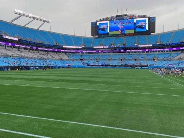 Bank of America Stadium, secção: 120, fila: 1, lugar: 7