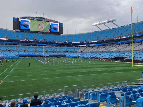 Bank of America Stadium, secção: 123, fila: 10, lugar: 6