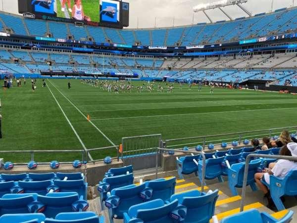 Bank of America Stadium, secção: 124, fila: 7, lugar: 3
