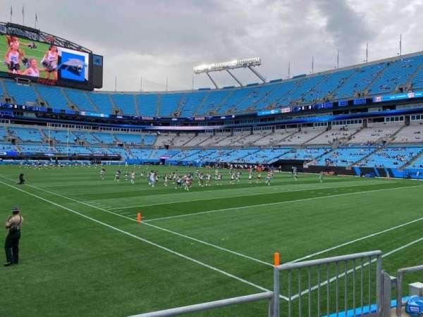 Bank of America Stadium, secção: 125, fila: 3, lugar: 3