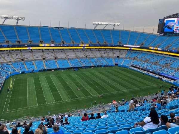 Bank of America Stadium, secção: 518, fila: 22, lugar: 15