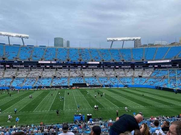 Bank of America Stadium, secção: 344, fila: 10, lugar: 8