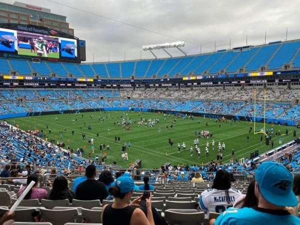 Bank of America Stadium, secção: 308, fila: 16, lugar: 10