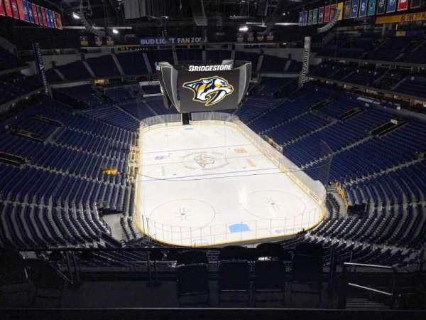 Bridgestone Arena, secção: 333, fila: H, lugar: 8