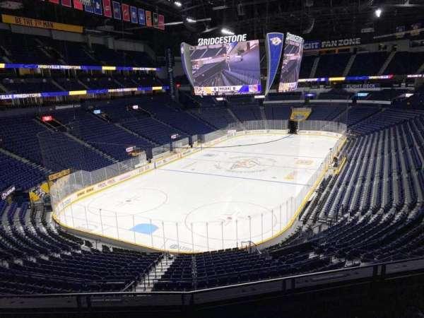 Bridgestone Arena, secção: 203, fila: D, lugar: 7