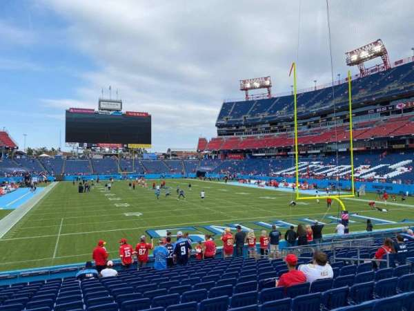 Nissan Stadium, secção: 125, fila: R, lugar: 13