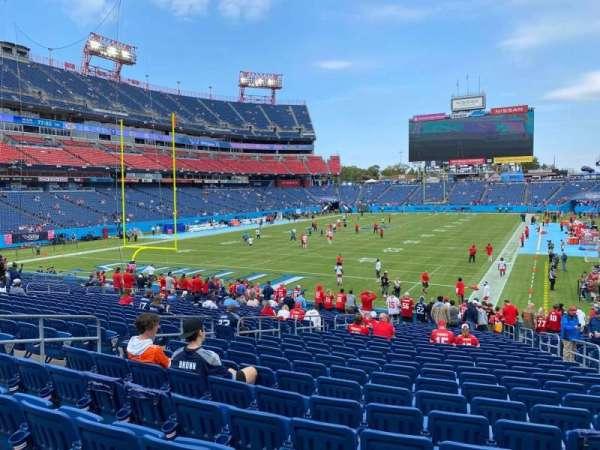 Nissan Stadium, secção: 121, fila: Aa, lugar: 7