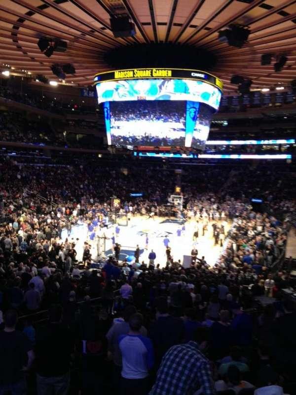 Madison Square Garden, secção: 113, fila: 17, lugar: 10
