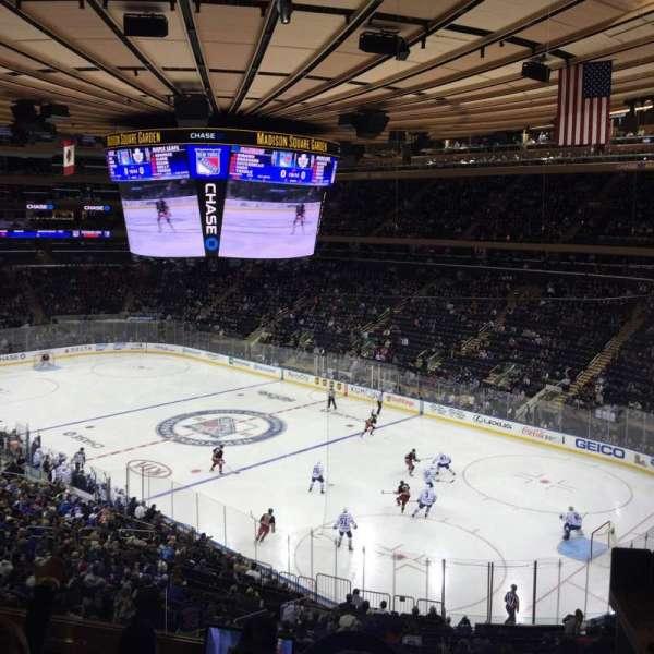 Madison Square Garden, secção: 215, fila: 5, lugar: 4