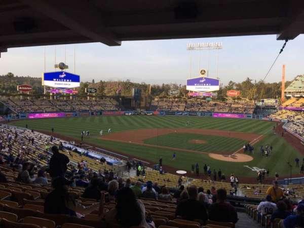 Dodger Stadium, secção: 113LG, fila: T, lugar: 1