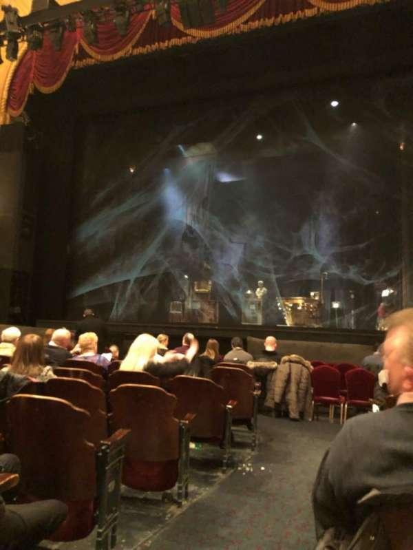 Detroit Opera House, secção: Main Floor 4, fila: H, lugar: 102