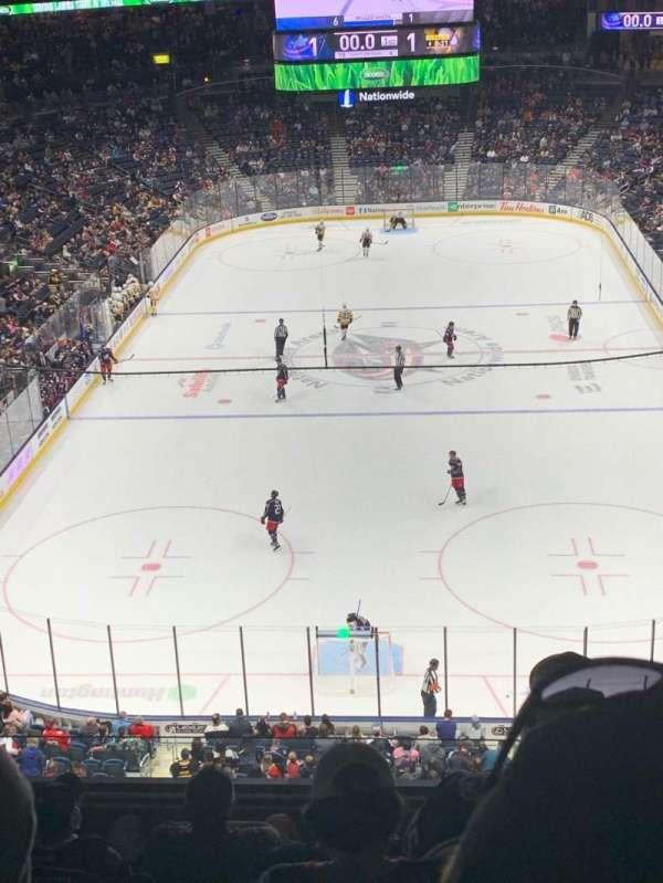 Nationwide Arena, secção: 224, fila: F, lugar: 5