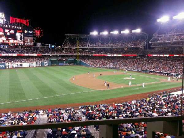 Nationals Park, secção: 205, fila: A, lugar: 1