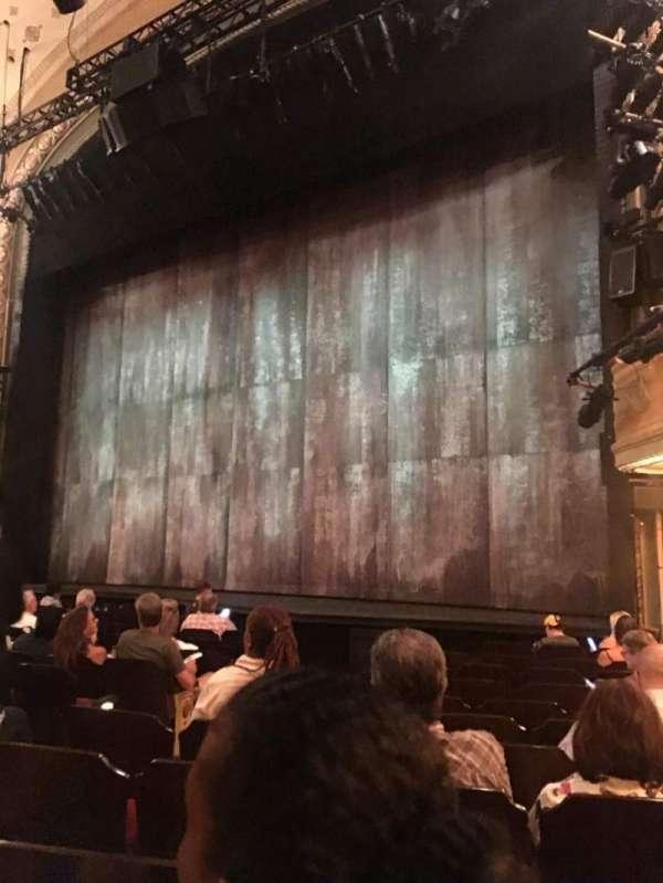 Bernard B. Jacobs Theatre, secção: Orchestra R, fila: K, lugar: 14