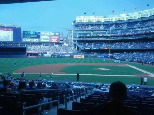 Yankee Stadium, secção: 123, fila: 29, lugar: 14