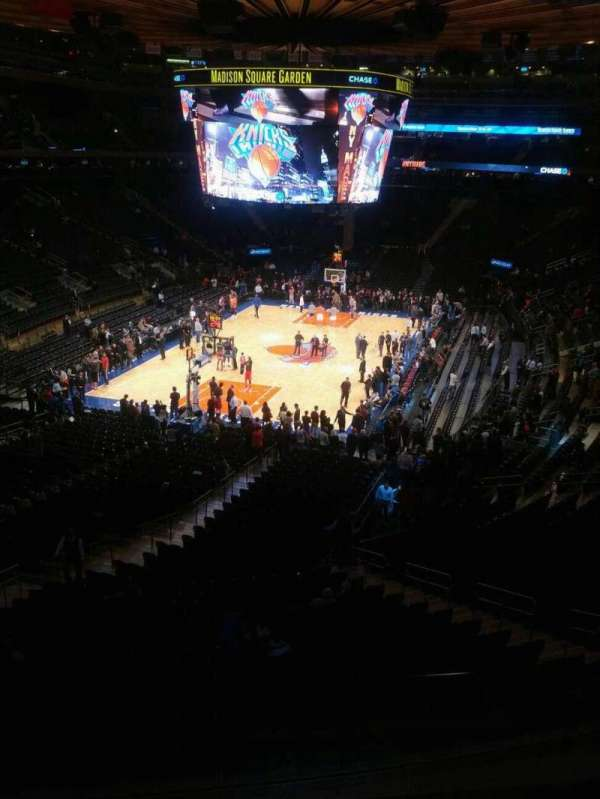 Madison Square Garden, secção: 207, fila: 3