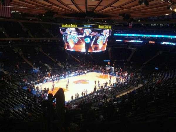 Madison Square Garden, secção: 220, fila: 8