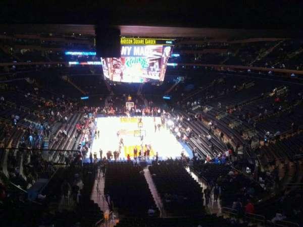 Madison Square Garden, secção: 217, fila: 5