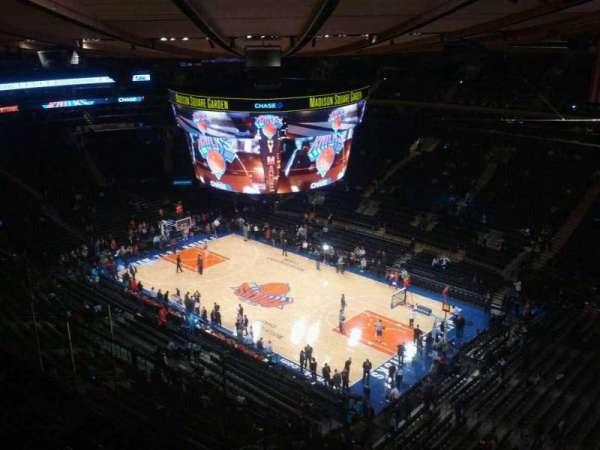 Madison Square Garden, secção: 315, fila: 3