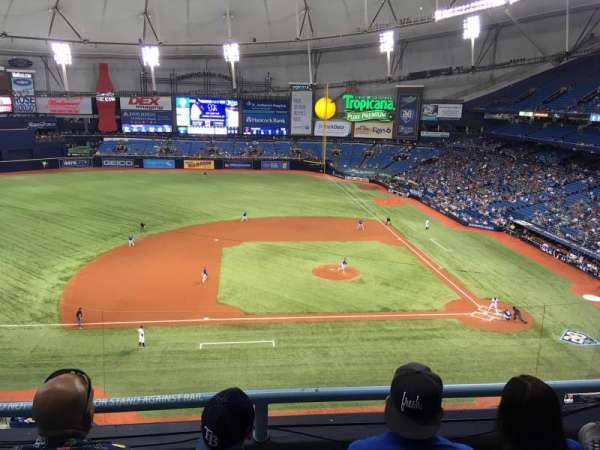 Tropicana Field, secção: 311, fila: C, lugar: 16