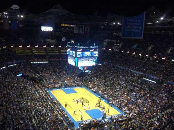 Chesapeake Energy Arena, secção: 303, fila: Q, lugar: 19