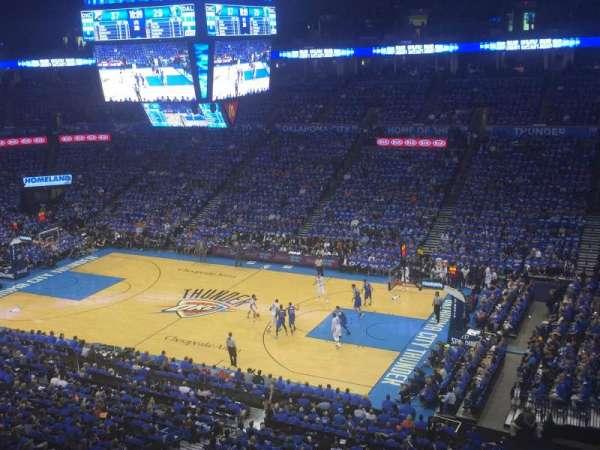 Chesapeake Energy Arena, secção: 306, fila: A, lugar: 7