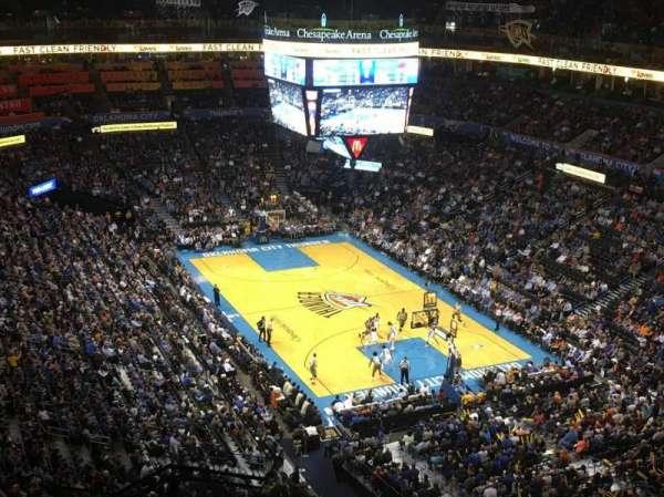 Chesapeake Energy Arena, secção: 318, fila: M, lugar: 19