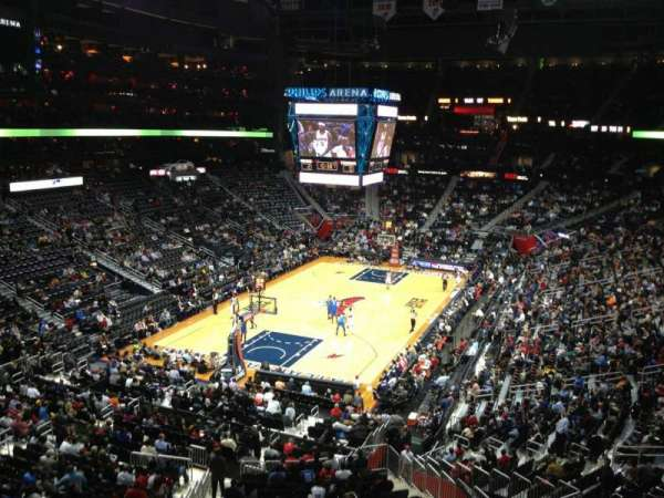 State Farm Arena, secção: 316, fila: A, lugar: 14