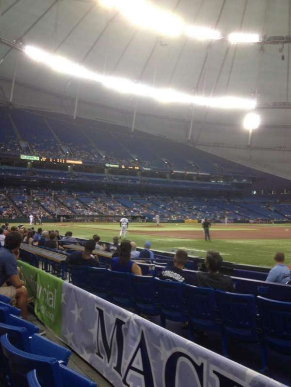 Tropicana Field, secção: 128, fila: H, lugar: 14