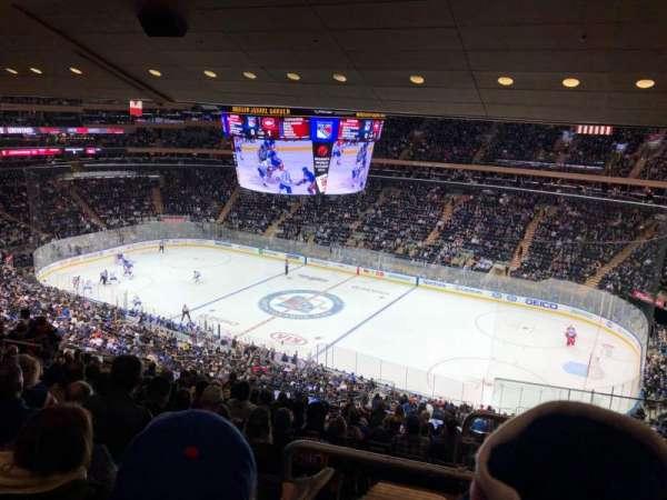 Madison Square Garden, secção: 213, fila: 14, lugar: 22