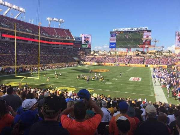 Raymond James Stadium, secção: 125, fila: AA, lugar: 6