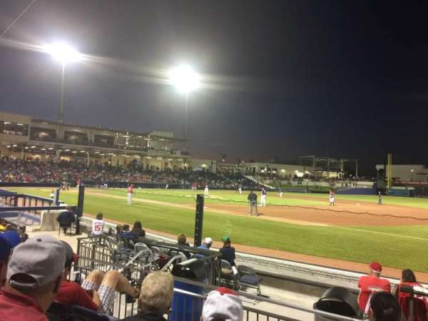 FITTEAM Ballpark of the Palm Beaches, secção: 117, fila: J, lugar: 12