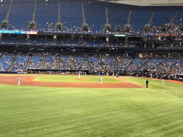 Tropicana Field, secção: 143, fila: AA, lugar: 18
