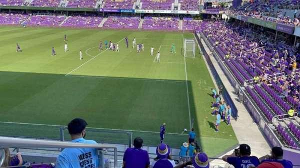 Exploria Stadium, secção: 110, fila: F, lugar: 20