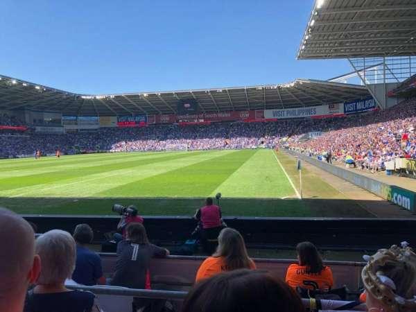 Cardiff City Stadium, secção: 122, fila: G, lugar: 106