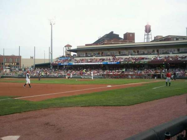 Fifth Third Field (Dayton), secção: 114, fila: 1, lugar: 30